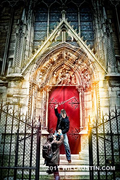 Swordsman, Notre Dame Cathedral, Paris