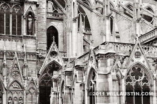 Exterior of Notre Dame Cathedral in Paris