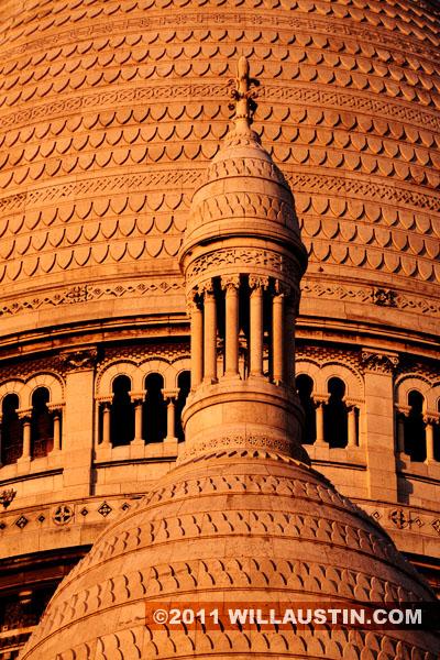 Sacré-Cœur Basilica detail in Paris, France
