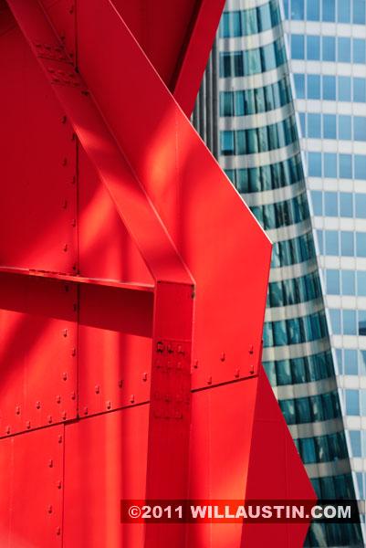 Calder sculpture at La Defense, Paris, France