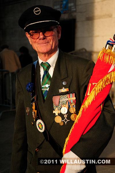 Veteran at the Arc de Triomphe in Paris, France