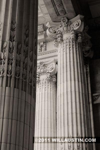Columns at the Grand Palais in Paris