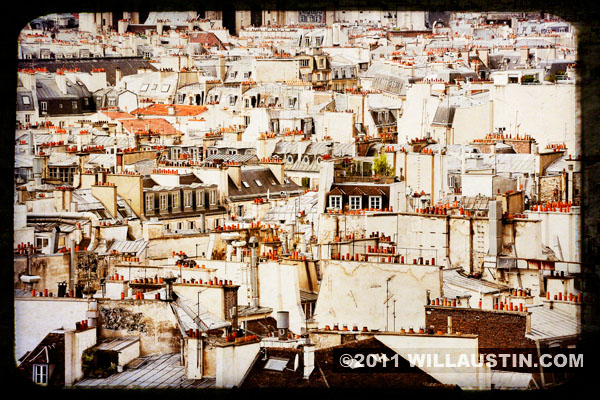 Paris rooftops from the Notre Dame Cathedral