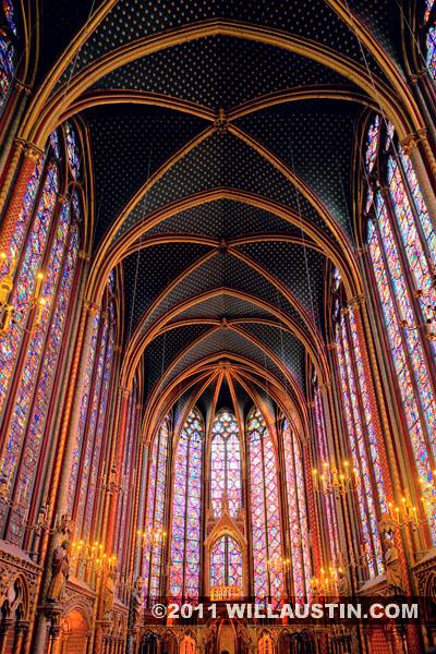 La Sainte-Chapelle interior, Paris France.