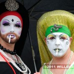Sisters of Perpetual Indulgence smoking at the 2011 Fremont Solstice Parade