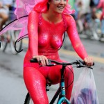 Naked Painted Cyclist at the 2011 Fremont Solstice Parade