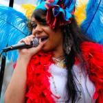 Makaela Romero singing at the Fremont Solstice Parade 2011