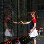 Independence Day 2011 - Girl at the Dignity Memorial Vietnam Wall