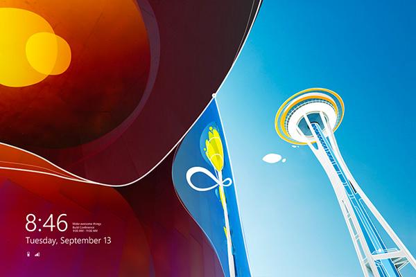 Marius Bauer Windows 8 lock screen illustration using a Windows 7 photo by Will Austin