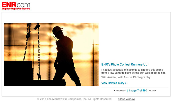 Runner-up photo by Will Austin Photography, ENR Photo contest 2012
