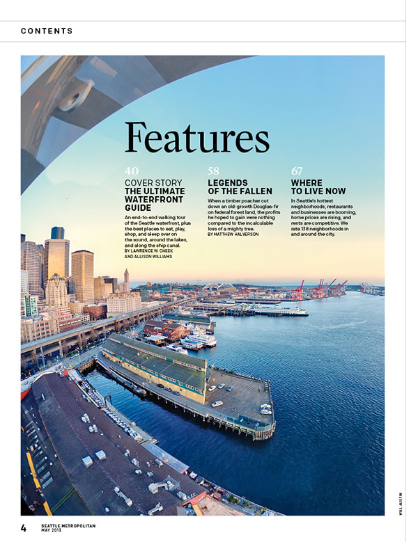 Seattle Met magazine title image seattle great wheel view by Will Austin