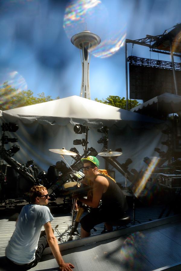 Backstage at Bumbershoot 2013 in Seattle, WA USA