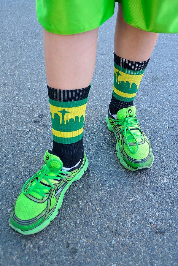 Seatown socks at Bumbershoot 2013 in Seattle