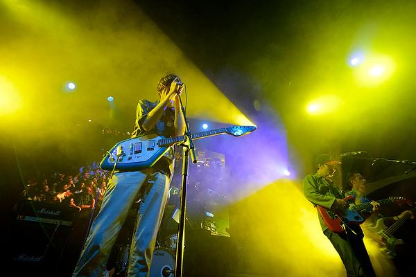 Bradford Cox of Deerhunter singing at Bumbershoot in Seattle, WA
