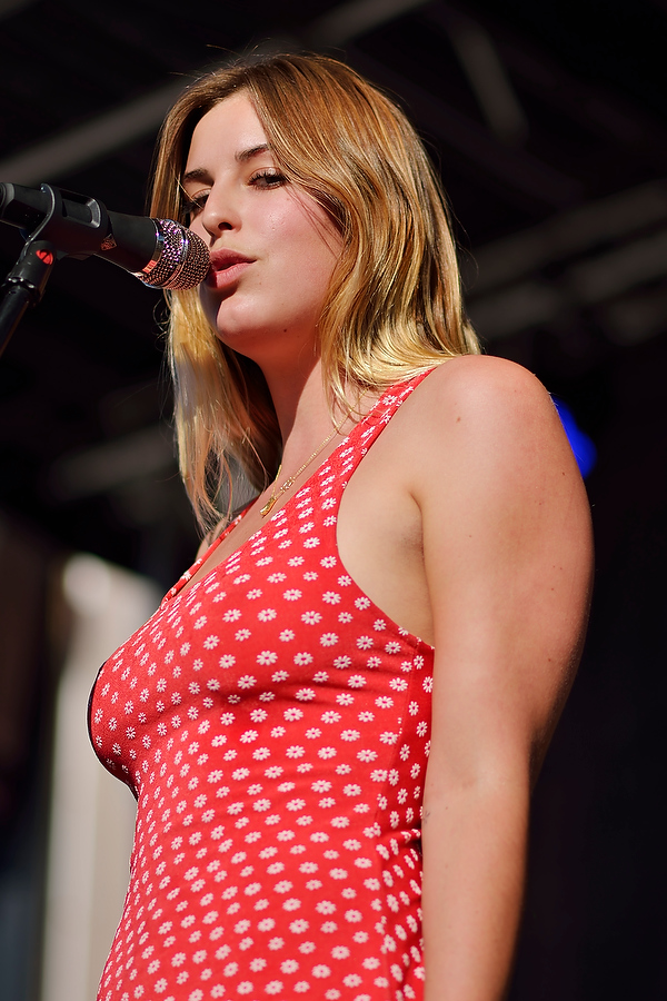 Scout Willis sings with Gus + Scout at Bumbershoot in Seattle