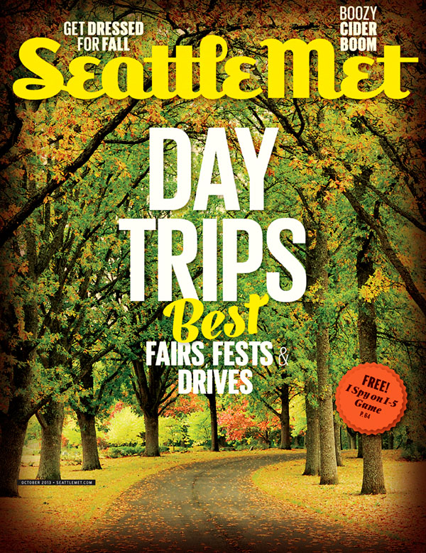 Seattle Met Magazine fall color cover photo by Will Austin