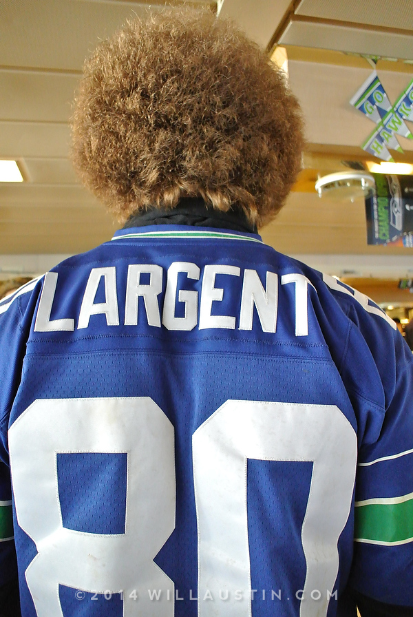 Steve Largent jersey on the ferry.