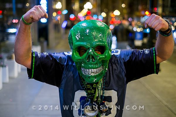 Celebration in downtown Seattle after their Super Bowl 48 victory