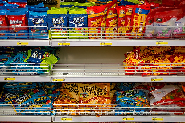 No more Skittles in the store