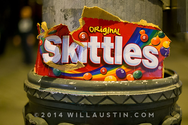 Skittles box in downtown Seattle