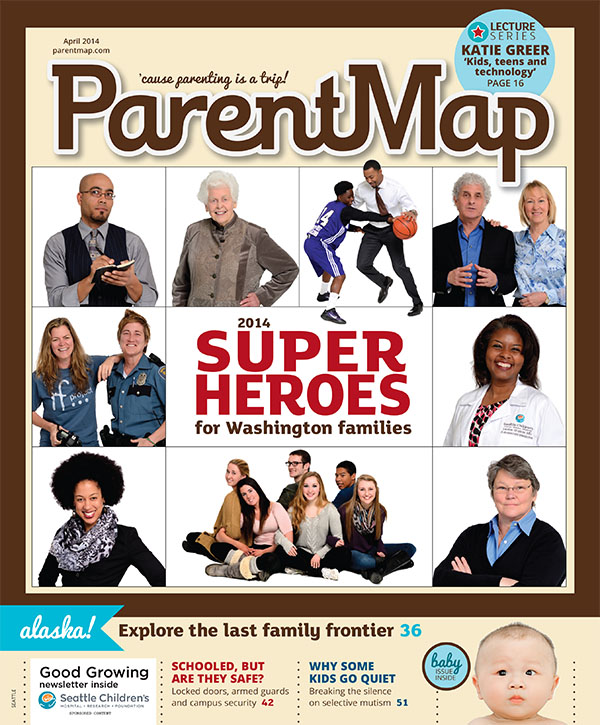 Cover image by Will Austin Photography for ParentMap Superheroes 2014 article