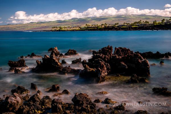 Hawaii Big Island lava and beach photo