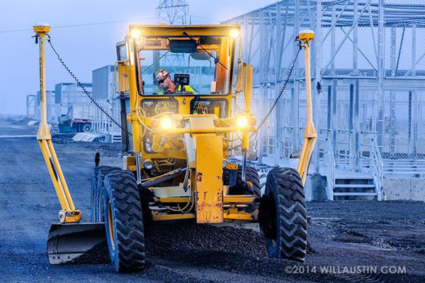 Road grader photo by Will Austin Photography