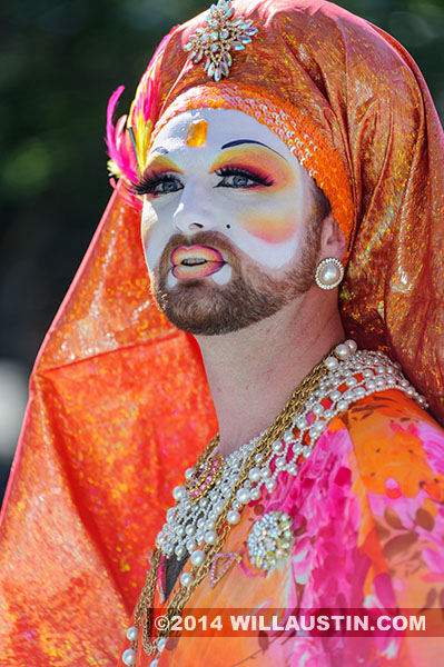 Sister of perpetual indulgence at the 2014 Fremont Solstice Parade in Seattle