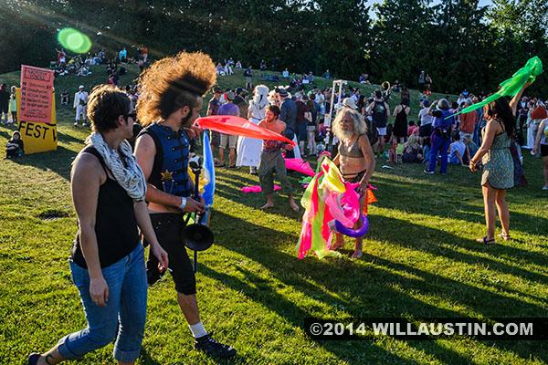 Revelers at Gasworks park after the 2014 Fremont Solstice Parade in Seattle