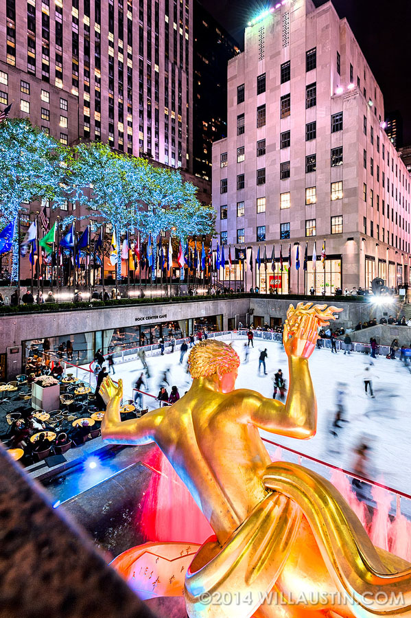 Rockefeller Plaza Ice Rink in New York, photo by Will Austin