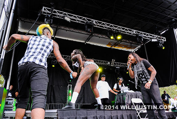 Big Freedia performs at the 2014 Bumbershoot festival in Seattle, WA
