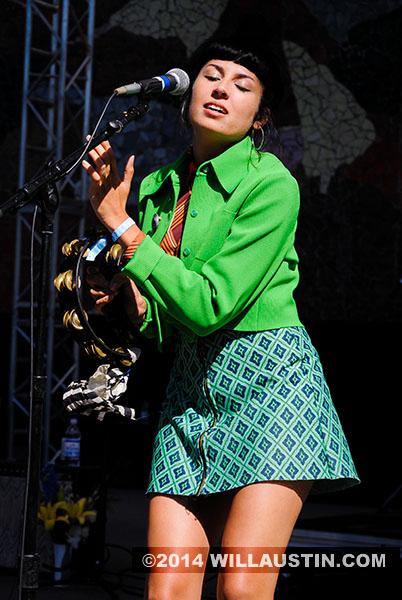 Jessica Hernandez performs at Bumbershoot