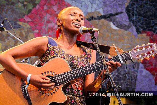 Naomi Wachira performs at Bumbershoot
