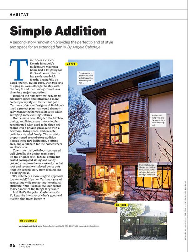 Axiom Design Build in Seattle Met Magazine
