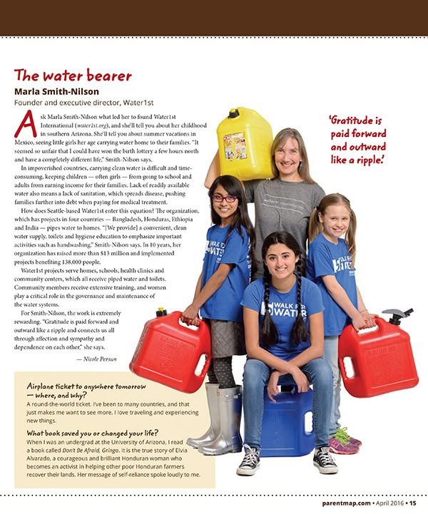 Marla Smith-Nilson of Water 1st International, ParentMap Magazine by Will Austin