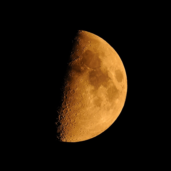 Partial moon photograph by Will Austin Photography