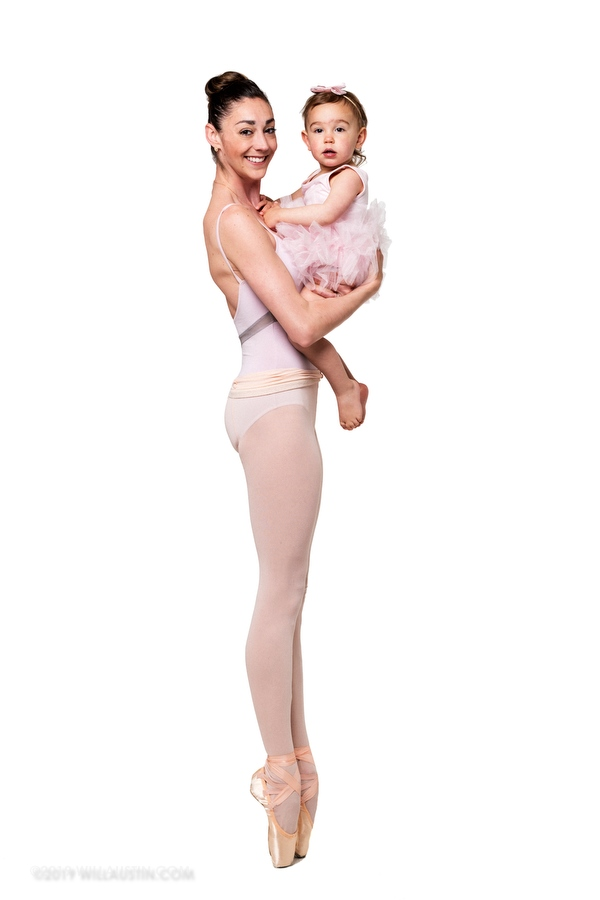Ballet dancer and baby