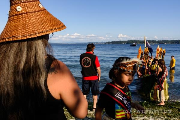 Canoe journey Suquamish, WA USA