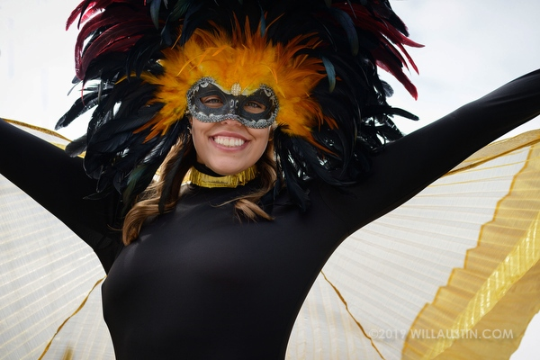 Beautiful woman in the Fremont Solstice Parade