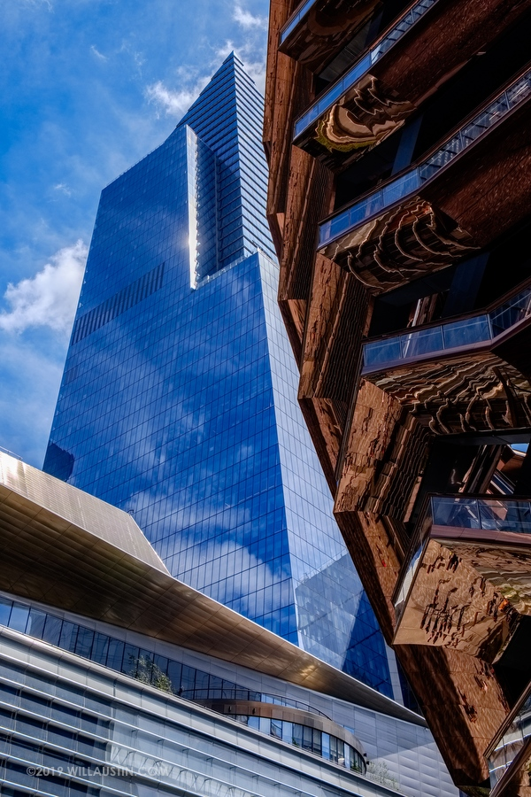 The Vessel and skyscrapers at Hudson Yards in New York