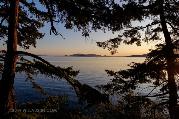 Puget sound view at Larrabee State Park in Washington State