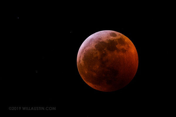 January 2019 lunar eclipse as seen from Seattle, WA USA
